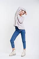 Женский вязаный пуловер оверсайз с косичками светло-фиолетовый Arjen размер One Size (101727-OS)