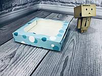 *10 шт* / Коробка для пряников / 150х150х30 мм / печать-Бирюзовая Нежность / окно-обычн / лк, фото 1