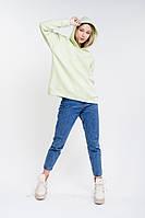 Базовое женское худи в стиле оверсайз светло-салатовое Arjen размер One Size (25970-OS)