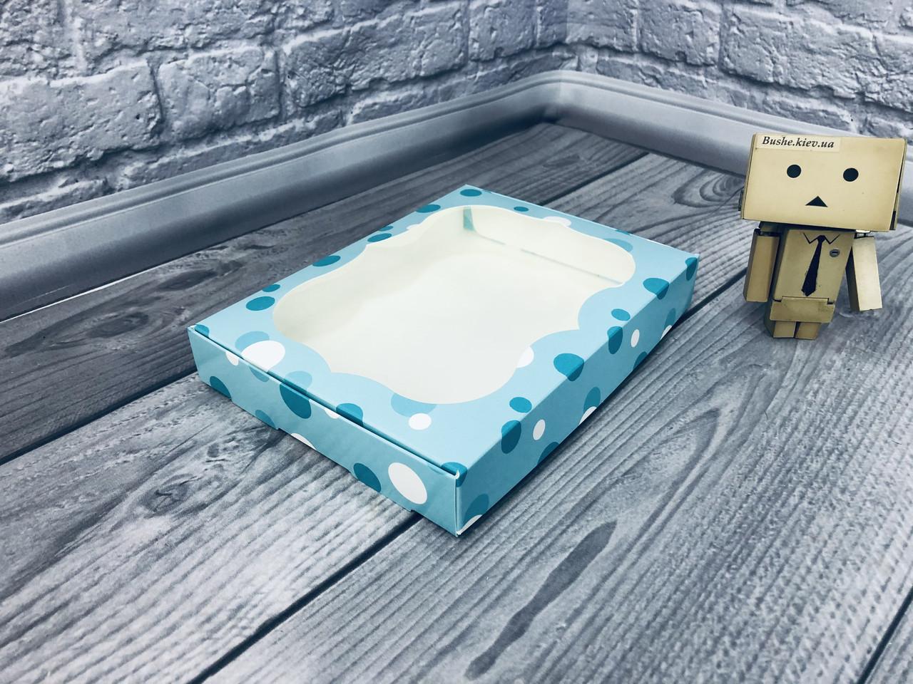 *10 шт* / Коробка для пряников / 150х200х30 мм / печать-Бирюзовая Нежность / окно-обычн / лк