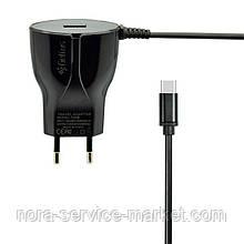 СЗУ Gelius Ultra Edition USB + Type-C 2A Black 1.2m