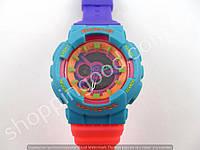 Детские часы Casio Baby G BA-111 5338 (013542) розовый голубой фиолетовый водонепроницаемые