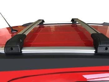 Kia Sorento UM 2015-2020 гг. Поперечный багажник на интегрированые рейлинги под ключ (2 шт) Серый