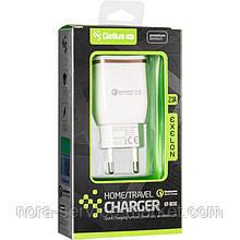 СЗУ Gelius Pro Exelon QC2.0 GP-HC02 1USB 2.1A + Cable iPhone 8 White