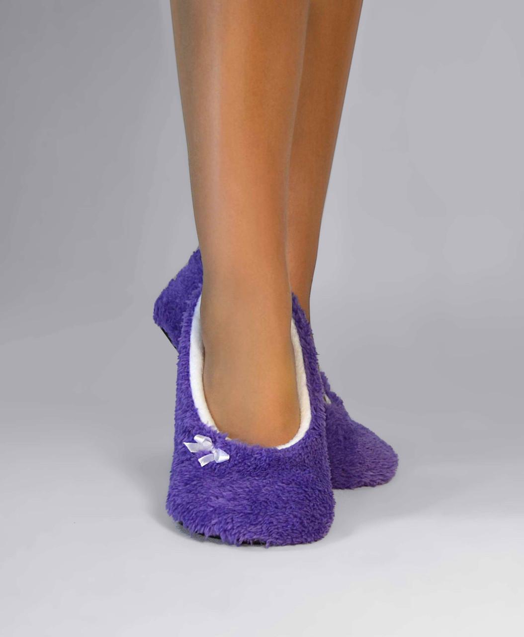 "Махровые балетки ""Purple"""