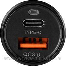 АЗУ Gelius Pro Twix QC GP-CC006 USB+Type-C 3.1A + Cable Type-C Black