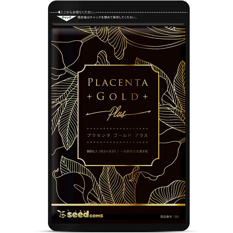 Seedcoms Placenta Gold  Экстракт плаценты + 5 компонентов для красоты и молодости, 30 капсул на 30 дней