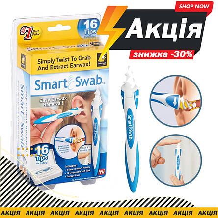 Прибор для чистки ушей Smart Swab со сменными насадками, фото 2