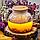 Чайник заварник стеклянный Стокгольм прозрачный с бамбуковой крышкой 600 мл, фото 3