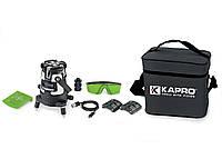 Уровень лазерный 3D (6 линий) зеленый луч  KAPRO (875G), фото 1