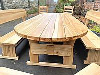 Дизайнерская деревянная мебель ручной работы из массива ясеня 2500х1000 под заказ от производителя Киевская