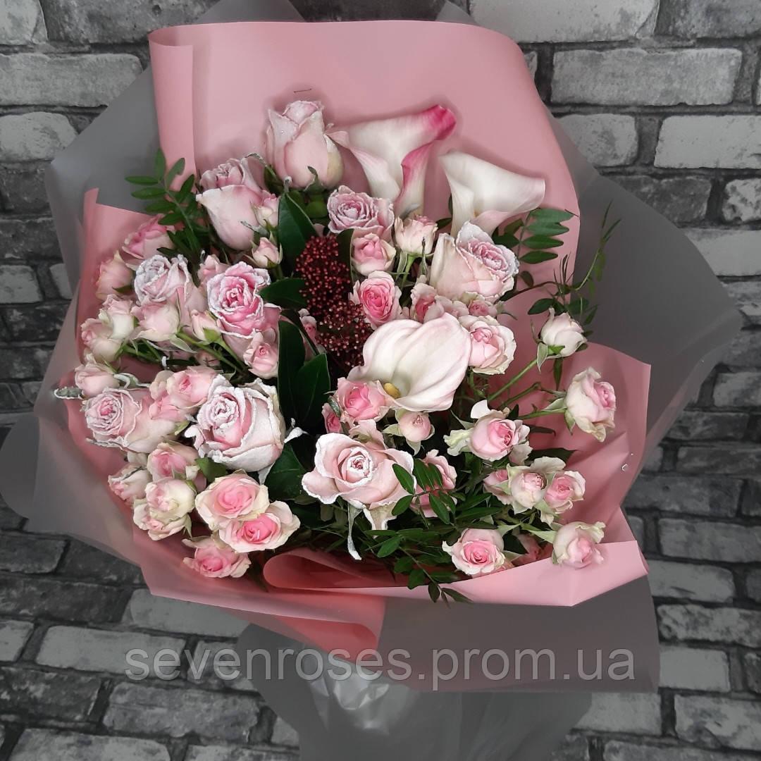 Букет из импортной розы