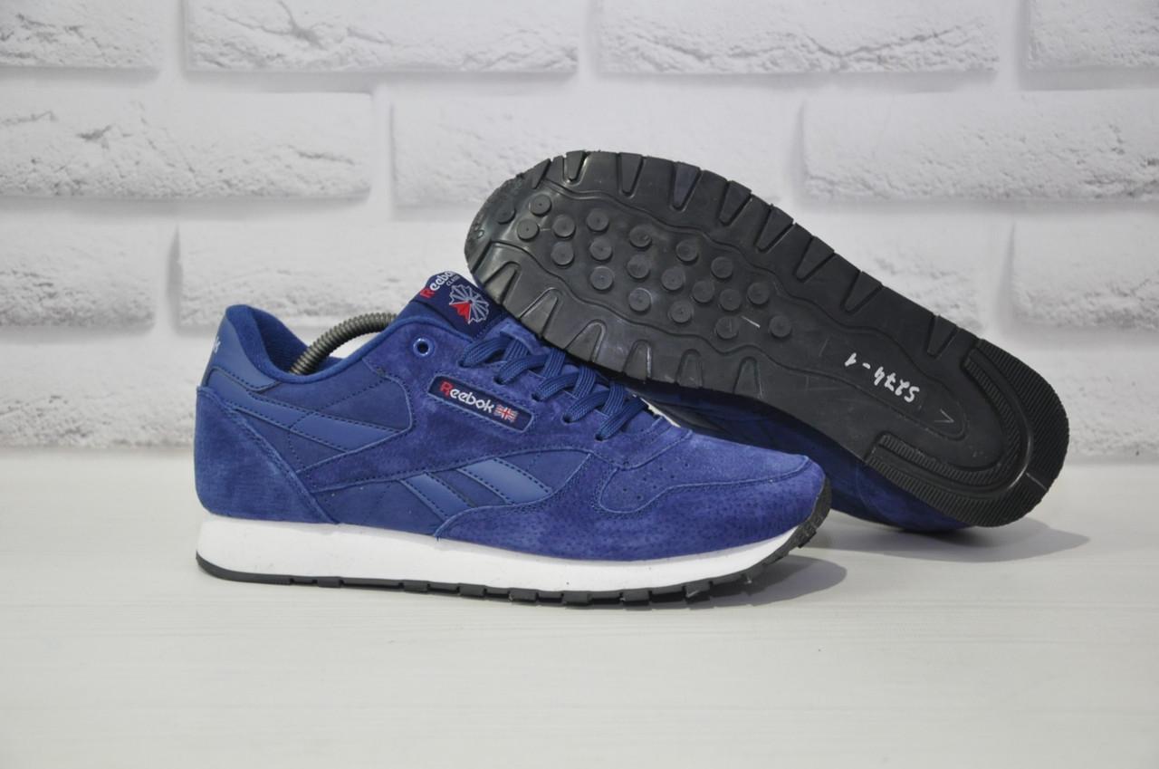 Чоловічі сині кросівки нубук в стилі Reebok Classic