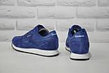 Чоловічі сині кросівки нубук в стилі Reebok Classic, фото 5