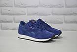 Чоловічі сині кросівки нубук в стилі Reebok Classic, фото 3
