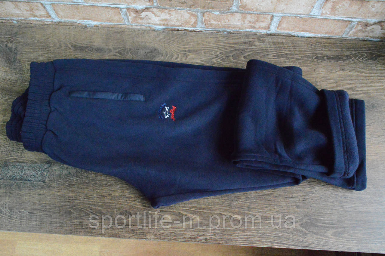 8005-мужские спортивные штаны большого размера Paul Shark-/Байка на флисе. Зима/ 2020 Большой размер