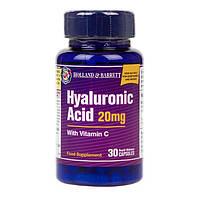 Биологически активная добавка для упругости кожи Holland & Barrett Hyaluronic Acid with Vitamin C, 30 шт.