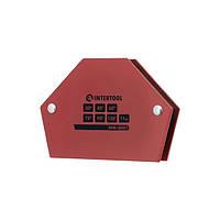 Держатель магнитный для сварки трапеция, 30°, 45°, 60°, 75°, 90°, 135°, 11 кг, 100×68×14 мм INTERTOOL MW-0001, фото 1