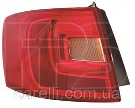 Фонарь задний правый внешний с желтым поворотом (тип EUR) для VW JETTA 2011-14