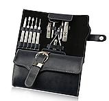 Маникюрный набор 11 инструментов профессиональный из медицинской стали в чехле, фото 3