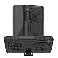 Чехол Fiji Protect для Motorola Moto G8 Power противоударный бампер с подставкой черный