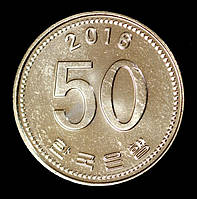 Монета Южной Кореи 50 вон 2016 г., фото 1