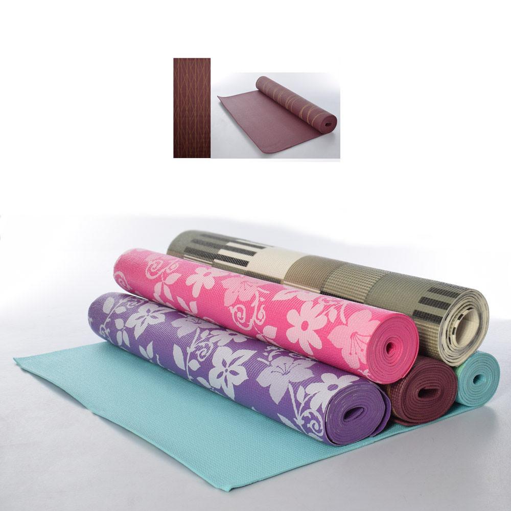 Коврик для йоги и фитнеса MS-1847-1 173х61 см, 3мм, йогамат