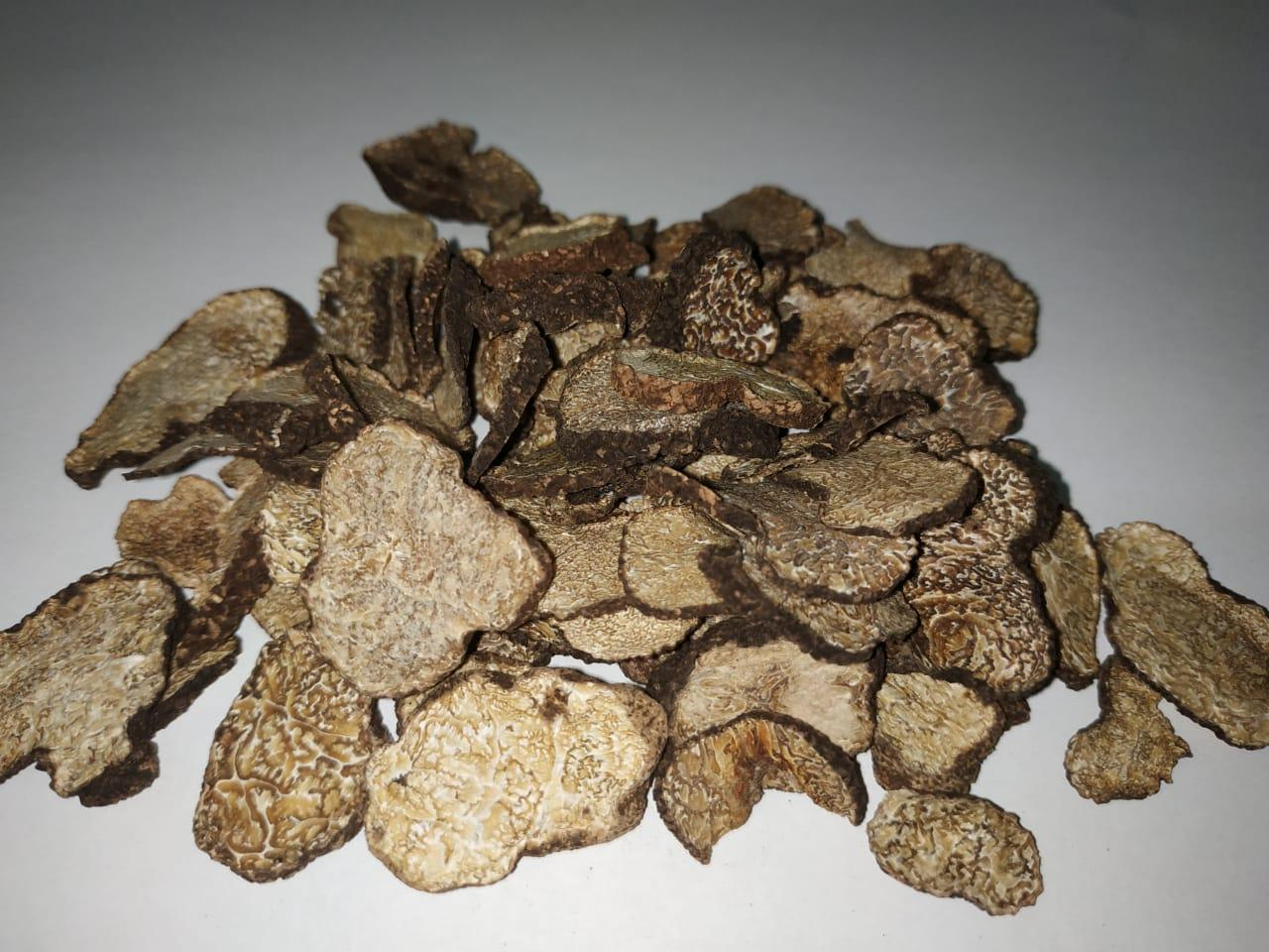 Сушеный дикий черный трюфель слайсы Tuber melanosporum (perigord truffle)