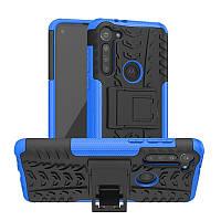Чехол Fiji Protect для Motorola Moto G8 Power противоударный бампер с подставкой синий
