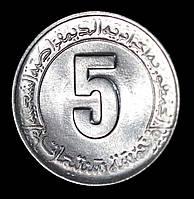 """Монета Алжира 5 сантимов 1985 г. """"ФАО - Второй пятилетний план 1985-1989"""", фото 1"""