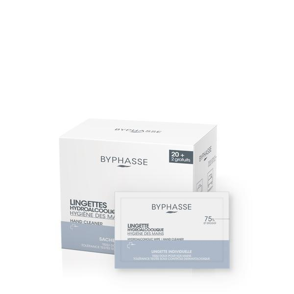 Byphasse Hydroalcoholic Hand Wipes Водно-спиртовые салфетки для рук салфетки