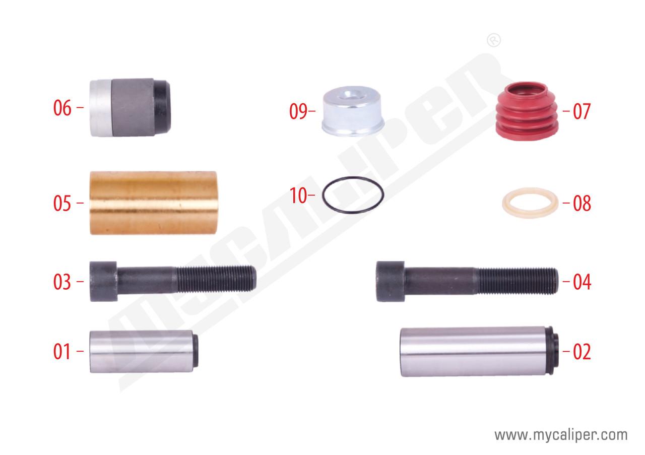 Ремкомплект направляющих суппорта KNORR SN6/7/SK7, м/р Втулка короткая D39, малая крышка