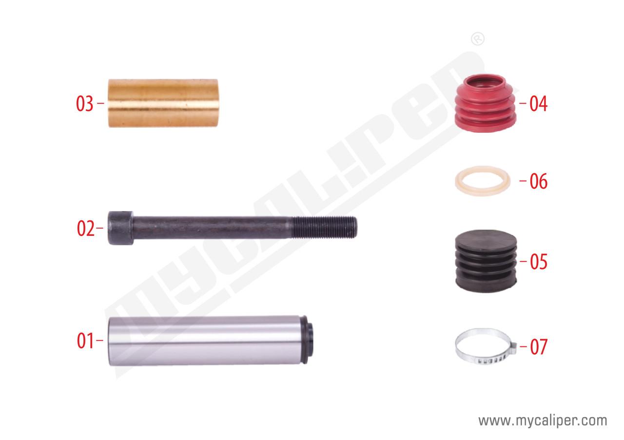 Ремкомплектт направляющих суппорта KNORR SB5/SB6/SB7 K000935