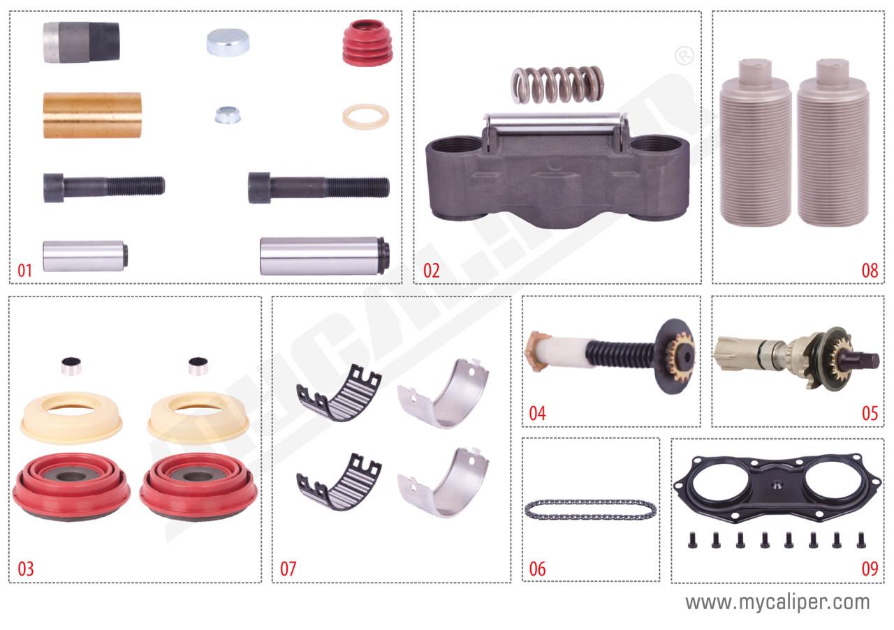 Комплект деталей суппорта KNORR SN6/SN7/SK7 K001915, без рычага MB AXOR