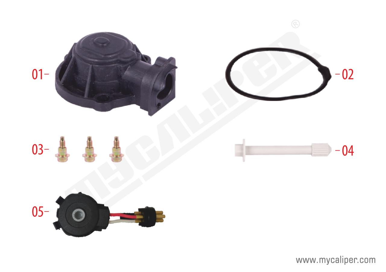 Крышка механизма самоподвода пластик KNORR SB6/SB7 на 2 контакта
