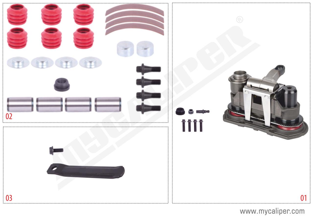 Ремкомплектт суппорта оси прицепа HALDEX MODUL X-GEN 2 полный