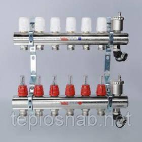 Коллекторный блок со встроенными расходомерам на 11 контуров VTc.596.EMNX.0611