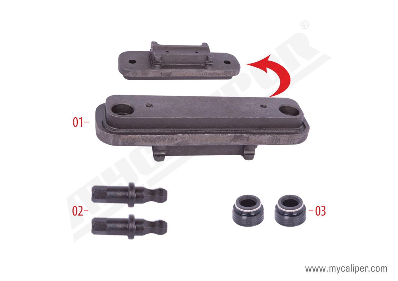 Крышка суппорта HALDEX металл с регул. пальцами