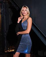 Коктейльное асимметричное платье с одним рукавом, фото 1