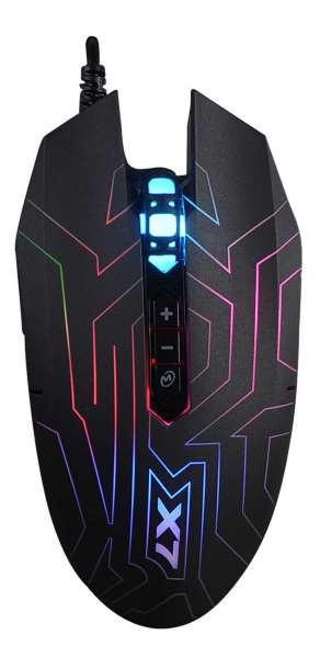 Миша A4 Tech X77 (Black) ігрова X7 Oscar Neon, Optical 2400CPI, USB (код 103624)