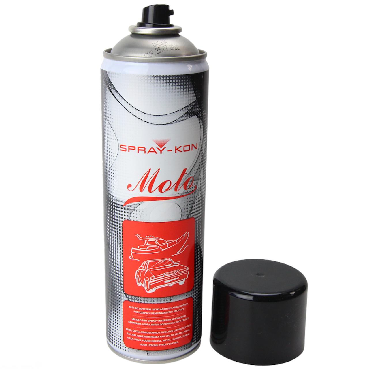 Аэрозольный контактный клей SPRAY-KON MOTO устойчив к высоким температурам +90°С (Польща) 500мл