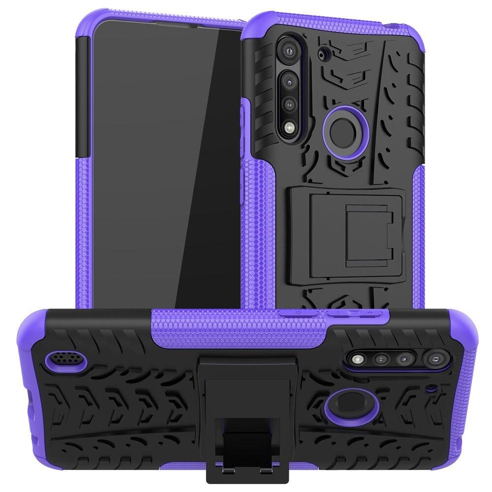 Чехол Fiji Protect для Motorola Moto G8 Power Lite противоударный бампер с подставкой фиолетовый