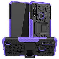 Чехол Fiji Protect для Motorola Moto G8 Power Lite противоударный бампер с подставкой фиолетовый, фото 1