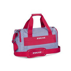 Дорожня сумка RIVACASE 5235 Сіра з червоним (5235 (Grey/red))  (код 113551)
