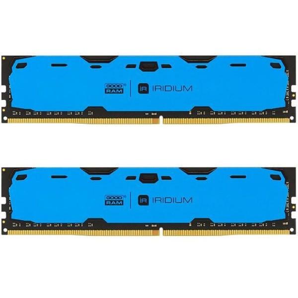 Пам'ять DDR4 RAM 8GB GOODRAM 2400MHz PC4-19200 (Kit of 2x4GB) Iridium Blue (IR-B2400D464L15S/8GDC) (код 93271)