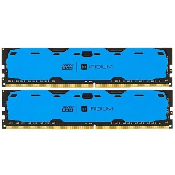Пам'ять DDR4 RAM 16GB GOODRAM 2400MHz PC4-19200 (Kit of 2x8GB) Iridium Blue (IR-B2400D464L15S/16GDC) (код