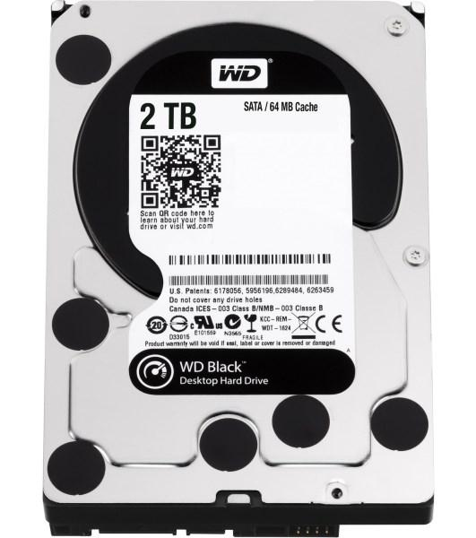 "Жорсткий диск HDD 2TB Western Digital Black  3.5"", SATA 3, 64MB, 7200rpm  (WD2003FZEX) (код 73079)"
