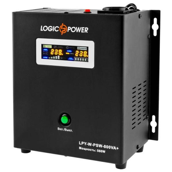 Блок безперебійного живлення LogicPower LPY-W-PSW-800VA+ ((560Вт) з чистою синусоїдою, без акумулятора) (код
