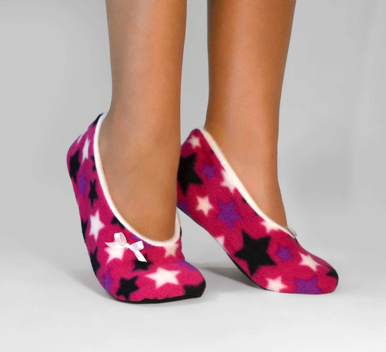 """Флісові балетки """"Stars Pink"""""""
