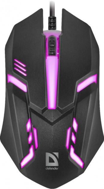 Миша DEFENDER Cyber MB-560L 7цветов,3кнопки 1200dpi (код 104644)